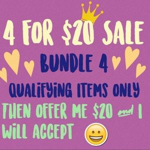 4 for $20 sale! 🌻